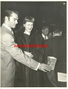 VINTAGE John Russell & Wife QUITE HANDSOME '50 CANDID Publicity Portrait
