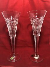 2 Waterford Crystal Health Toasting Flutes The Millennium Collection 2000 9.25''