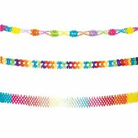 *6m Festival Paper Rainbow Pride Multicoloured Party Garland Bunting Decoration*
