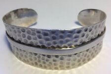 Antique Taxco Silver Cuff Bracelet , Stamped