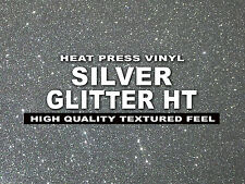 "12""x20"" SILVER Glitter Heat Press thermal transfer vinyl, T- Shirt, sheet/roll"