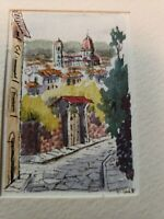 Summer Country townscape Original  Painting ACEO z7