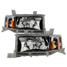 Scion 04-06 xB Black Housing Replacement Headlights Lamps Left+Right Set