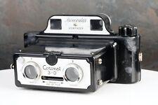 :Coronet 3-D 3D Stereo 127 Film Camera w/ Binocular Viewfinder - Works!