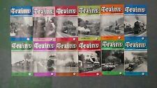 Trains, illustrated in original packaging: 12 volumes Jan 1958 to Dec 1958