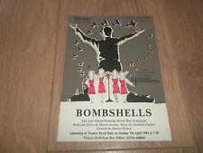 """THEATRE ROYAL BATH """" BOMBSHELLS """" HANDBILL FLYER 1989"""