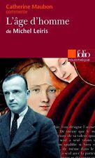 L'ÂGE d'HOMME*Michel LEIRIS*édition RARE 1997 GALLIMARD*Catherine MAUBON comment