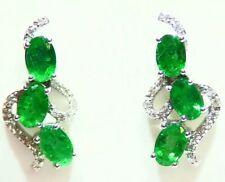 2.53ct 18k White Gold Diamond Earrings