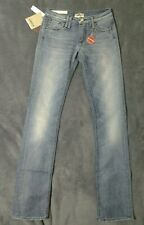 NEW W25 L34 CYCLE blue jeans straight cut leg designer low - mid rise stretch