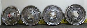 "OEM GM Set of 4 15"" Hub Caps Wheel Covers 3042 03968761 1974 Chevelle... (1222)"