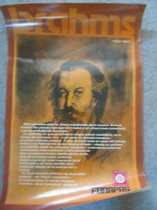 Poster of Johannes Brahms from Portugal Laminated