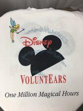 "Rare Tinker Bell ""Disney Voluntears"" Cast Member White T-Shirt USA XL Vintage"