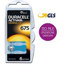 120 batterie per protesi apparecchi acustici DURACELL ACTIVAIR mod. 675 PR44