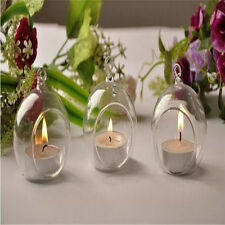 2Pcs Comfortable Crystal Glass Candle Holder Fashion Party Home Romantic  Decor