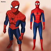 Ultimate Spider-Man Costume Cosplay Peter Parker Zentai Jumpsuit Halloween Suit