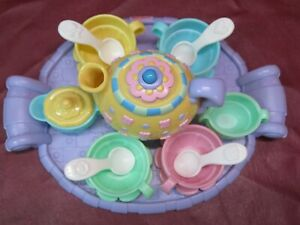 Fisher-Price Musical Tea Party Set 100% Complete Teapot Spoon Cups Saucers