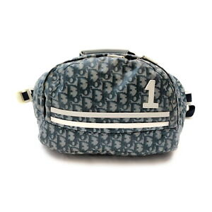 Christian Dior BackPack Bag 2Way Bag Navy Blue Nylon 2203498