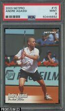 2003 Netpro Tennis #15 Andre Agassi PSA 9 MINT