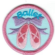 Girl BALLET class Lesson Patches Crests Badges SCOUTS GUIDE tour dance Slippers