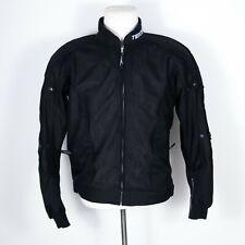 Teknic Black Padded Armor Mesh Motorcycle Jacket US Size 40