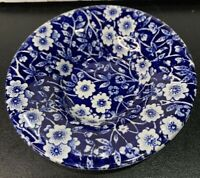 Vintage Blue & White Butter Pat Bowl Staffordshire CALICO BLUE