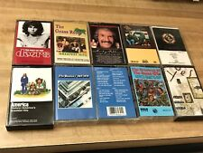 10 - Cassettes, Beatles, Doors, Marty Robbins, Yes, Guess Who, America, ELO-Case