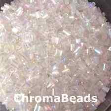 50g Bicchiere HEX Perline seme-chiaro Rainbow-taglia 11/0 (circa 2MM) gronda con doppio taglio