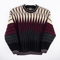 Vintage Bachrach Coogi Like Sweater Hip Hop Biggie 3D Texturized 90s USA Made