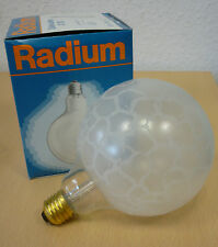 Radium Globe ambiente lux E27 40W G120 Lámpara de globo Krokoeis seda mate G125