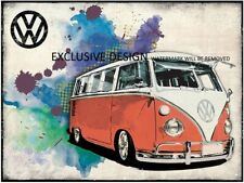 Vw Camper Van Retro Classic 30x20 Inch Canvas Framed READY TO HANG!!!
