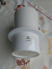 Porzellan Teefilter;Aufsatzfilter;Thun;CSSR; weiß;Porzellanfilter; Filter