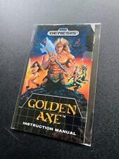 Golden Axe 🔥 Sega Genesis Manual Instruction Booklet 🔥
