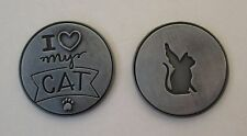 d 1x I love my cat angel loss of PAWSITIVE PET POCKET TOKEN CHARM