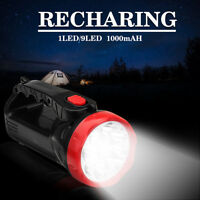 PORTABLE SUPER BRIGHT RECARGABLE LED SPOTLIGHT TORCH FLASHLIGHT 5W