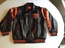 "Chicago Bears ""NFL"" Older Faux Leather Jacket"
