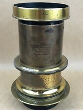 Burke & James 8x10 f-5 Cephaloscope Portrait Antique Large Brass Lens