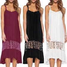AU 8-24 Women Party Dress Summer Sexy Long Strappy Beach Evening Maxi Sundress