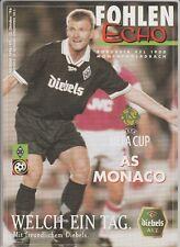 ORIG. prg UEFA Cup 1996/97 borussia mönchengladbach-as mónaco rara vez!!!
