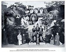 """Szene aus dem Märchenspiel """"Das goldene Mutterherz"""" von Bleyer-Grohmann 1910"""