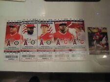 Shohei Ohtani HR 1,2,3 & 1st Home Win Unused Tickets +Topps 1st base hit card