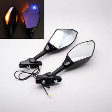 Black Turn Signal Integrated Mirrors For Honda CBR1000 CBF1000 CBR125R/150R/250R