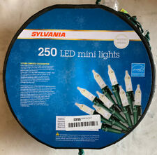 Sylvania Christmas Lights 250 LED Mini Lights, Warm White 62.25FT