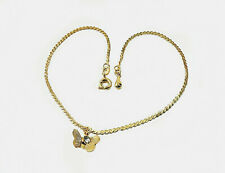Butterfly charm Gold Anklet Chain /  18k Gold Filled / 10 inch / ankle bracelet