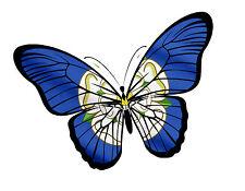 BELLISSIMA Farfalla Design & Yorkshire Rosa Contea di York Bandiera Auto Adesivo Vinile