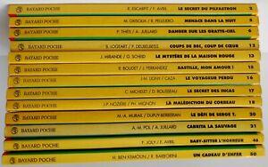 LOT de 13 LIVRES Les romans Collection JE BOUQUINE Dès 10 ans - BAYARD POCHE