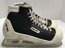 Bauer Ice Hockey Goalie Skates size 12 D senior with ICM holders sr skate
