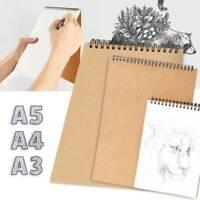 A3 / A4 / A5 Skizzenbuch Zeichenblock Spiral White PaperArt Home School DE