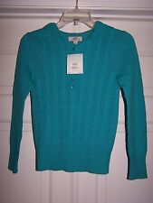 SO Girl's Hooded Sweater M Teal Blue Long Sleeve NWT Retail $32.00
