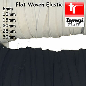 Flat Woven ELASTIC Assorted Width Strap Tape Stretch Belt Sewing Dress Waist