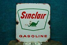 Antique Vintage Sinclair Gasoline Porcelain Sign ~Early Oil / Gas Advertisement